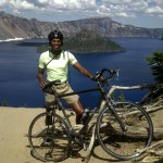 David Bike Crater Lake